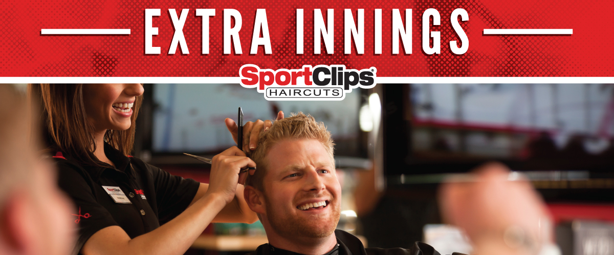 The Sport Clips Haircuts of Houston W. 19th Street Extra Innings Offerings